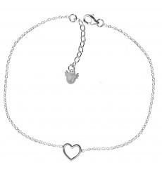 Collar de plata con corazón calado La Petra