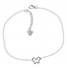 Collar de plata con mariposa calada La Petra