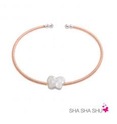 Pulsera de plata con perla mariposa Petrai