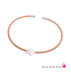 Pulsera de plata con perla estrella Petrai