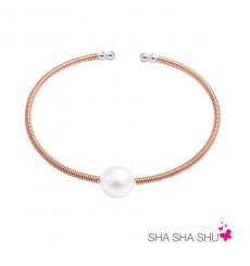Pulsera de plata con perla Petrai