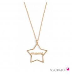 Colgante de plata Estrella mamá La Petra