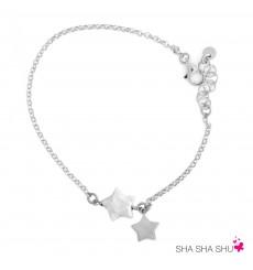 Pulsera de plata con Perla Estrella La Petra