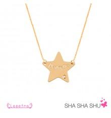 Collar con estrella oro personalizada La Petra