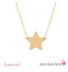Collar con estrella personalizada de Oro La Petra