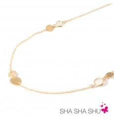 Collar de plata bañada en oro  La Petra