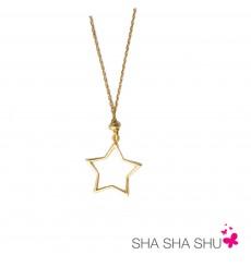 Colgante estrella de plata bañada en oro  La Petra