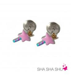 Pendientes de plata barita mágica rosa colección Encantada  La Petra