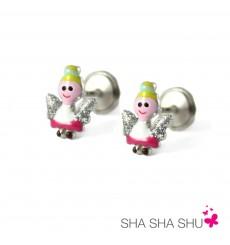 Pendientes de plata ángel colección Encantada  La Petra