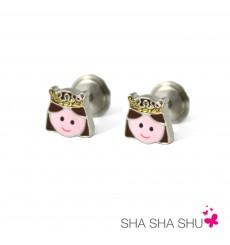 Pendientes de plata princesa colección Encantada  La Petra