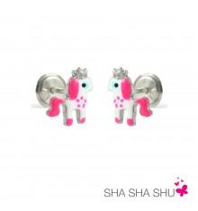 Pendientes de plata unicornio colección Encantada  La Petra