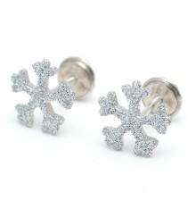 Pendientes copos de nieve de plata La Petra