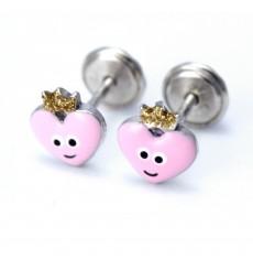 Pendientes corazones rosas de plata colección Encantada  La Petra
