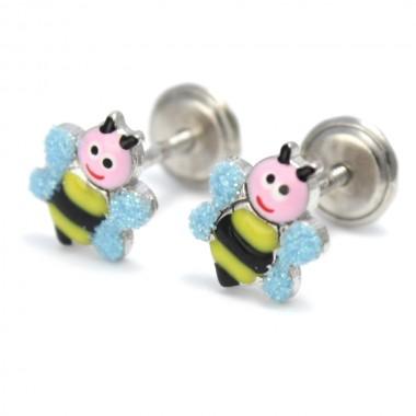 Pendientes abejas de plata colección Encantada  La Petra