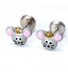 Pendientes ratoncitos de plata colección Encantada  La Petra