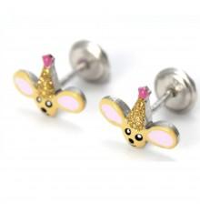 Pendientes ratoncitos magos de plata colección Encantada  La Petra