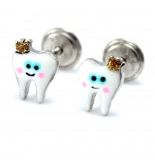 Pendientes dientes de plata colección Encantada  La Petra