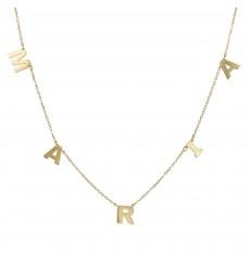 Collar de oro clara La Petra