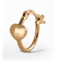 Pendientes corazones de plata chapados en oro La Petra